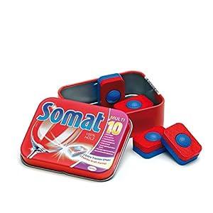 Erzi Juego de imaginación Grocery Madera Shop Mercancías lavavajillas Tabs Somat en una Lata