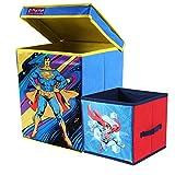 SuperMan Toys Organizer (Set of 2 pcs - Big & Small), Storage Box