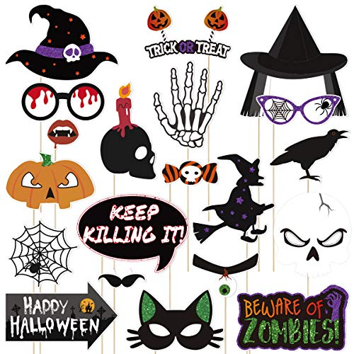 to Requisiten Halloween Photo Booth Requisiten Halloween Dekorationen Kreative Happy Halloween Party Favors 20PCS ()