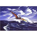 Forex 30 x 20 cm: A Pteranodon soars just above the waves. de Jerry LoFaro / Stocktrek Images