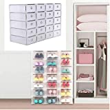 Iglobalbuy Shoe Storage; 20 Cajas de Almacenaje ; Caja de Zapatos de Plastico Transparente Apilables...