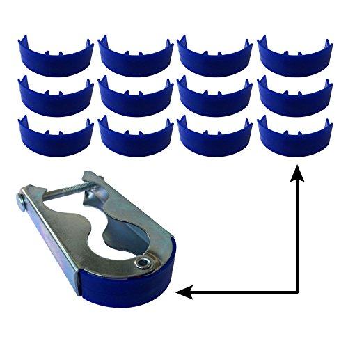 12x Trampolin awm® Schutzkappen für Befestigungsklammern Stangen Pfosten Netz Ersatzteile Zubehör