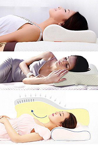 Relax Neck Curve Shape Memory Foam Pillow Cure Cervical issue Shoulder Back Neck Pain Relief Pillow For Men Women