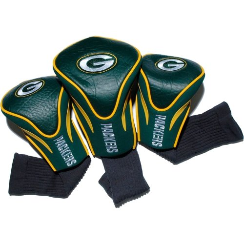 team-golf-31094-green-bay-packers-3-pack-contour-fit-headcover