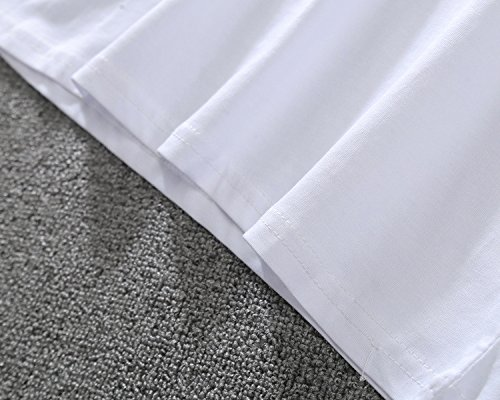 BOMOVO Herren PLACE Einfarbige T-Shirts mit Rundhalsausschnitt Weiß