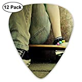 Cool Jeans Shoes Skateboards Classic Guitar Pick (12 Pack) for Electric Guita Bass