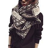 Beatayang D'écharpe de châle Cozy Blanket pour femmes Lady (Noir)