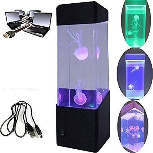 Mini Quallen Stimmung Lampe - LED-Fantasie-Quallen-Lampe Farbe die Stimmungs - Lampe ändert /USB-Ladevorgang - Hauptdekoration-magische Lampe für Geschenk