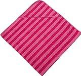 Morgenstern, Kapuzentuch 140x140 cm, pink/rosa gestreift, ohne Stickerei, 100 % Baumwolle, thumbnail