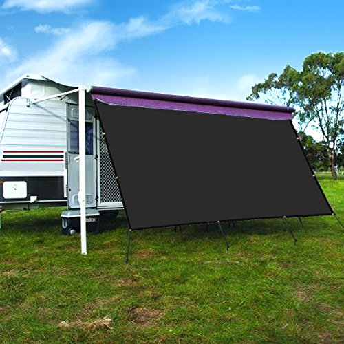 CAMWINGS Wohnmobil-Markise Sichtschutz Schatten Panel Kit Sunblock Schatten Drop 10x 16ft, Schwarz
