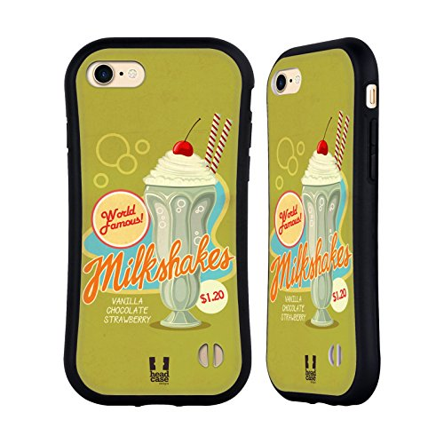 Head Case Designs Tartes De Cerise Séries D'annonce D'époque Étui Coque Hybride pour Apple iPhone 6 Plus / 6s Plus Milkshake