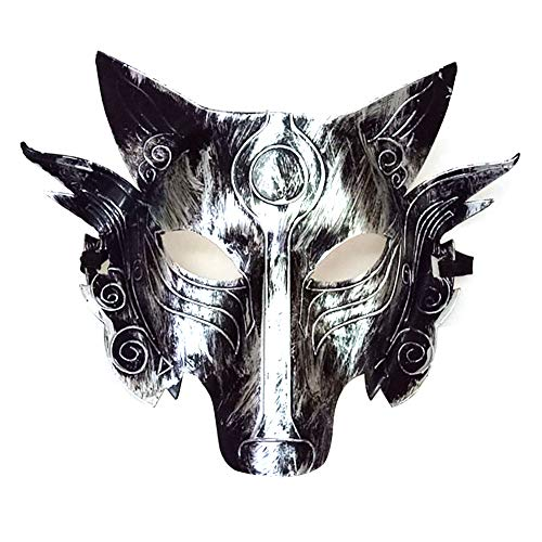 (Newin Star Cosplay Wolf Kostüm Maske Full Face Maskerade Maske für Männer Frauen Halloween Party Spiel Dekoration-Splitter)