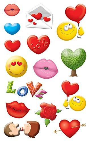 AVERY Zweckform 56094 Deko Sticker Emoticon Liebe 30 Aufkleber