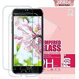 Youer Phone 8 Plus/7 Plus/6S Plus/6 Plus Verre Trempé,[2 Pièces]0.33mm HD Ultra transparent en Verre trempé écran - Anti-Rayures Compatible 3D Touch Glass Screen Protector - Transparent