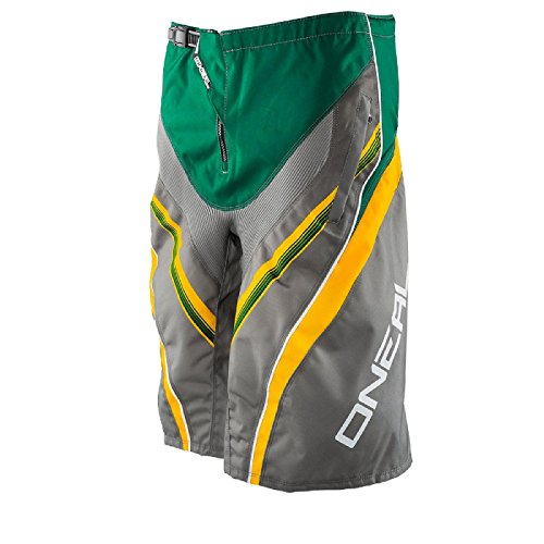 O'Neal Element FR Short Grün Gelb Downhill MTB Mountainbike BMX All Mountain Fahrrad kurze Hose, 0192S-9, Größe 32/48 (Enduro-einlagen)