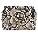 LILIHOT Brusttasche mit diagonaler Kreuztasche der Modedame Schlangenmuster Handtasche Damen Leder...