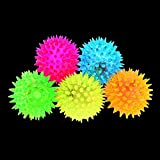 Acekid Colors Elastic Flashing Spike Ball Light Up Squeaking Balls With LED Lights Party Toys 5pcs