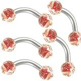 5 pcs piercing helix banane arcade oreille cartilage bijouterie acier chirurgical...