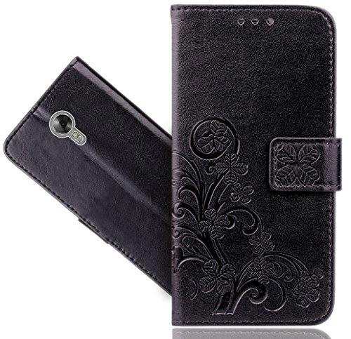 Acer Liquid Z6 Plus Handy Tasche, FoneExpert® Blume Wallet Case Flip Cover Hüllen Etui Hülle Ledertasche Lederhülle Schutzhülle Für Acer Liquid Z6 Plus (5.5