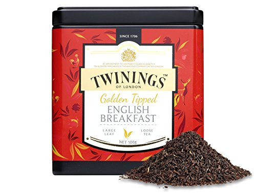 TWININGS Tea - Discovery Collection - Golden Tipped English Breakfast - 100gr Caddy Lose Tee
