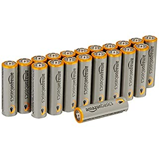 AmazonBasics AA Performance Alkaline Batteries [Pack of 20] - Packaging May Vary