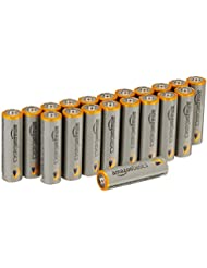 AmazonBasics Lot de 20 piles alcalines Type AA 1,5 V 2875 mAh (design variable)