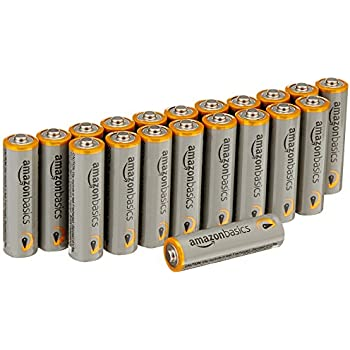 AmazonBasics AA Performance Alkaline Non-Rechargeable Batteries (20-Pack) - Packaging May Vary