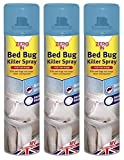 3 x Zero In Pest Bed Bug Control Killer Spray Linen Fragrance Home