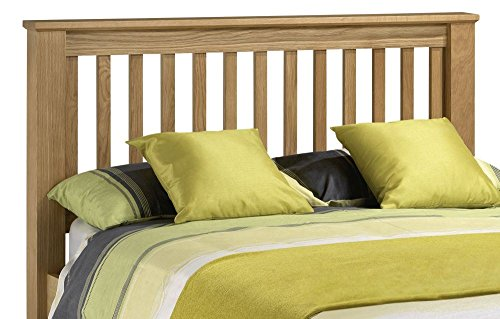 Happy Beds Amsterdam Wooden Headboard Solid Oak Bedroom Bed Furniture 5' King Size