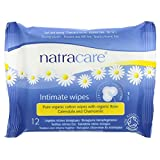 Natracare Organic Cotton Intimate Wipes - 12 Wipes - Case of 12 Natracare Organic Cotton Intimate W