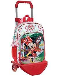 Disney 23923M1 Minnie Strawberry Mochila Escolar, 15.43 Litros, Color Rosa