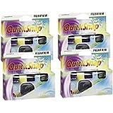 Fujifilm - Juego de cámaras de fotos desechables (4 unidades, se incluyen carretes Superia X-tra 400, 27 fotos)