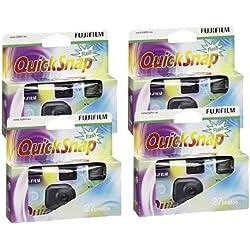 Fujifilm Lot de 4 appareils photo jetables avec flash et pellicule X-tra 400 asa 27 poses