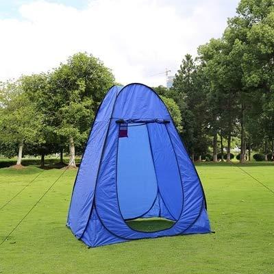 GFF CHYYZP Zelt 1-2Personen Tragbare Privatsphäre Dusche Toilette Camping Pop Up Zelt Camouflage/UV-Funktion Outdoor Dressing Zelt/Fotografie Zelt Blau L