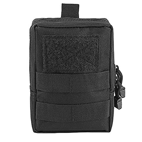 Airsson Tactical Molle Pouch Utilitaire Medical First Aid Pouch Sac Holster Holder Military Gadget Fourre-tout 1000D Nylon (Black)