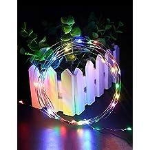 Multicolore rame luci della stringa, litexim 30diodi 3m/9,8ft String luci impermeabile luce cielo stellato Decorazione catene F ¨ ¹ R dell' albero di Natale balcone Bicicletta unterst ¨ ¹ tzt von 3X AA