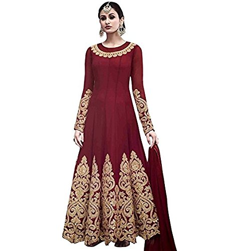 Monika Silk Mill salwar suits for women party wear semi stitched anarkali...