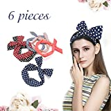 Y.F.M Y. F. M Rabbit Ear Wired Headbands Scarf Headwrap Girls/women Wired Hairband Hair Accessories, Pack Of 6pcs