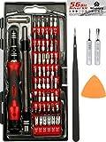PRÄMIE 62 in 1 Professionell Präzision Schraubendreher Set mit 56 magnetischen Bit Set - Reparatur Werkzeug Kit zum iPhone X, 8, 7 und darunter/Handy/Computer/Tablet/Xbox/PlayStation/Elektronik