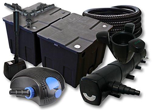 sunsun-filtro-set-60000l-stagno-con-72-w-chiarificatore-stagno-100-w-pompa-eco-25-m-tubo-skimmer-fon