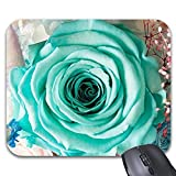 Blue Rose in Glass Mouse Pad -Stylish Office Computer Accessory 11.8 x 9.8