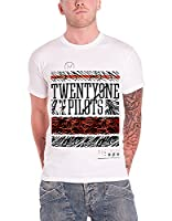 Twenty One Pilots Athletic Stack logo Official Mens New White T Shirt