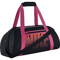 Nike Women'S Gym Club Borsone, Nero/Vivid Pink/Bright Mango, Taglia Unica