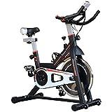 Homcom Vélo d'appartement Cardio vélo Biking écran Multifonction Selle et Guidon réglable Noir Rouge Blanc 44