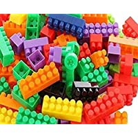 FRATELLI® Building Blocks for Children Certified European Saftey Standards (100 pcs( 84 Blocks+16wheels) Small Blocks…