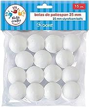Dohe 18114 - Pack de 15 bolas poliespan, 25 mm