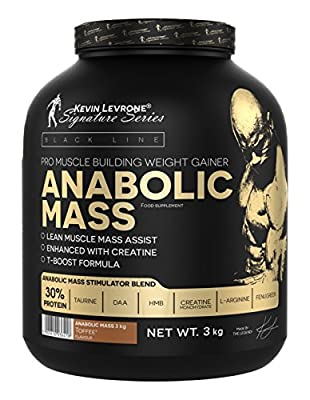 Kevin Levrone 3kg Black Line Anabolic Mass–Muscle Mass–Bulk–Protein by Kevin Levrone Signature Series