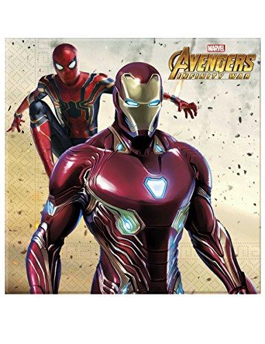 Generique - 20 Serviettes Avengers Infinity War 33 x 33 cm