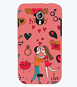PRINTSWAG LOVE COUPLE Designer Back Cover Case for MICROMAX A116 CANVAS HD