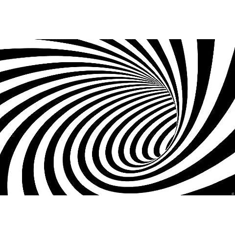 3D tunel blanco-negro fotomurales decoración de la pared de Great Art 210 cm x 140 cm